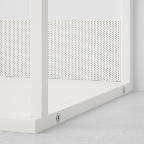PLATSA Open shoe storage unit, white, 80x40x60 cm