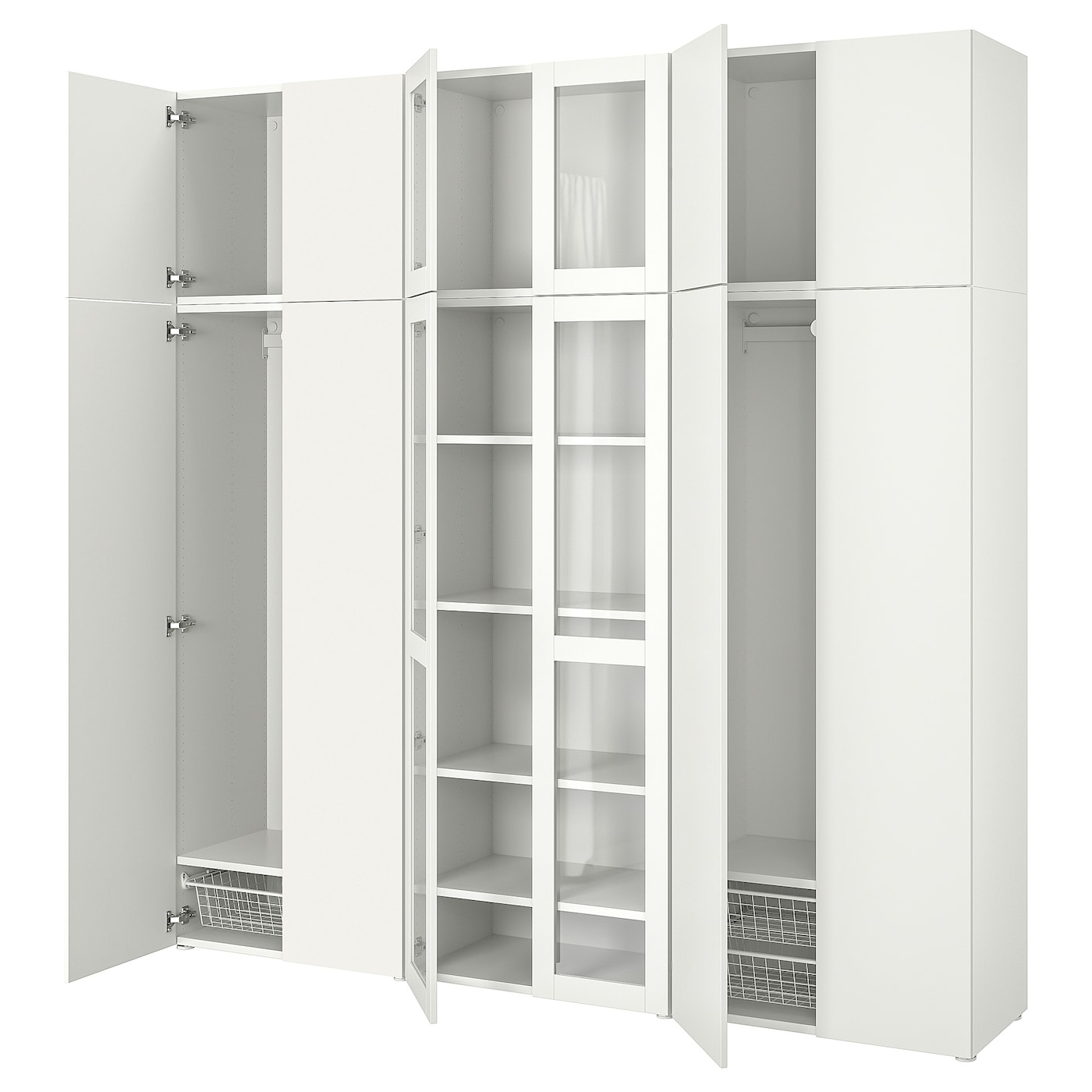 IKEA PLATSA storage combination Perfect where space is limited since the frame is narrow.