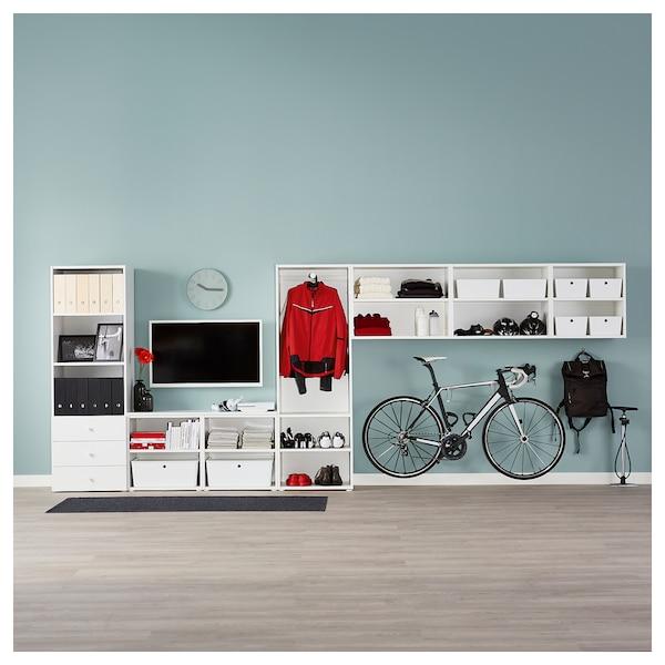 PLATSA wardrobe white/Fonnes Sannidal 340 cm 42 cm 241 cm
