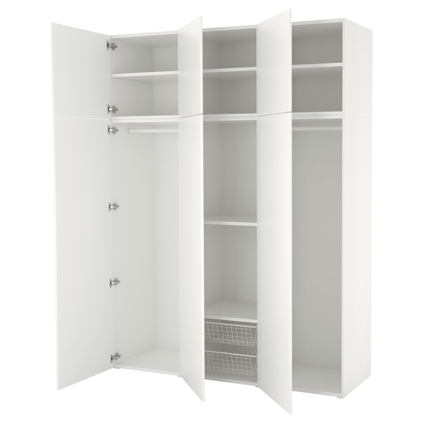 platsa wardrobe white fonnes white 180 x 57 x 241 cm ikea. Black Bedroom Furniture Sets. Home Design Ideas