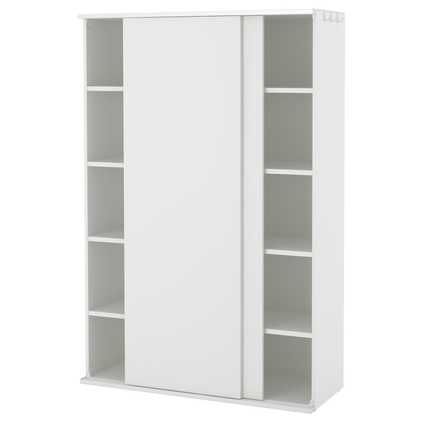 platsa wardrobe white fonnes white 120 x 46 x 181 cm ikea. Black Bedroom Furniture Sets. Home Design Ideas