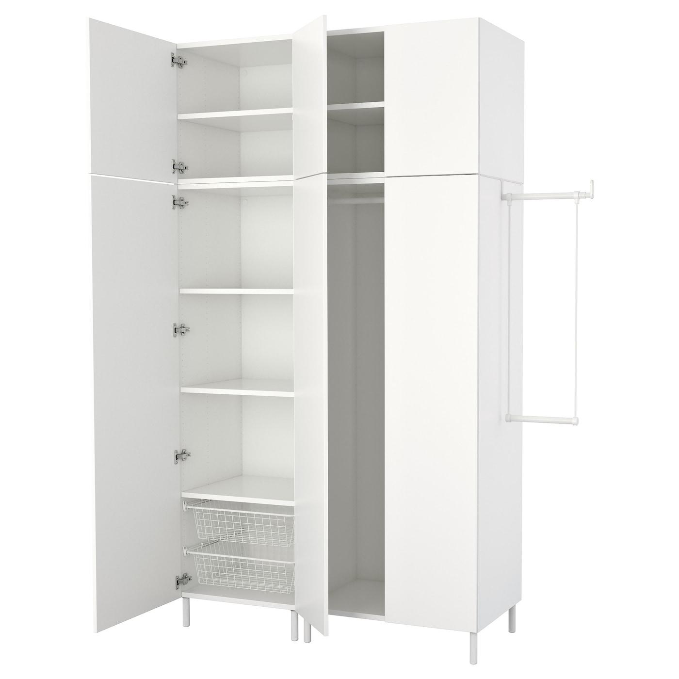platsa wardrobe white fonnes white 175 200 x 57 x 251 cm ikea. Black Bedroom Furniture Sets. Home Design Ideas