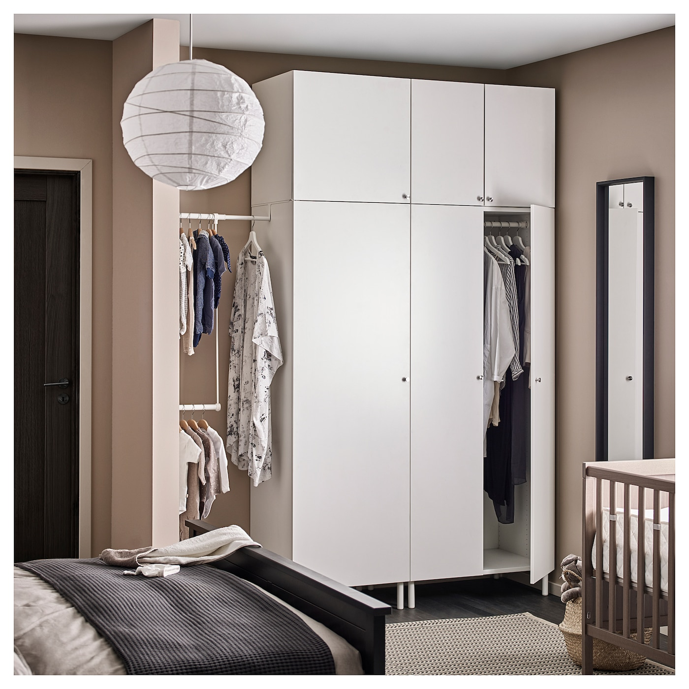 platsa wardrobe white fonnes white 175 200 x 57 x 251 cm ikea. Black Bedroom Furniture Sets. Home Design Ideas