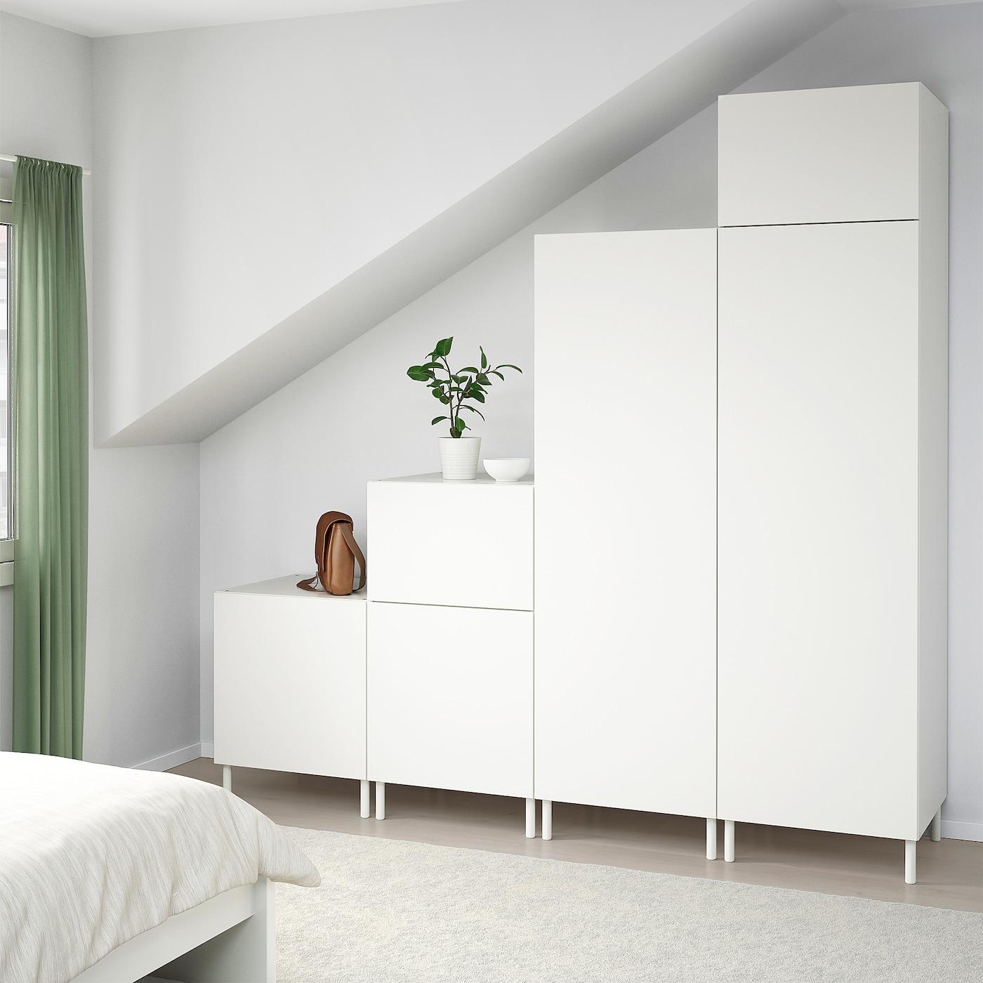 PLATSA wardrobe white/Fonnes white 240 cm 57 cm 231 cm