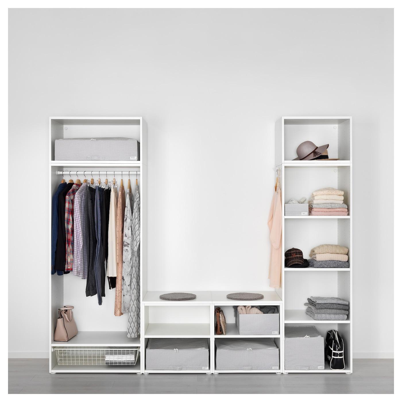 platsa wardrobe white skatval dark grey 260 x 57 x 221 cm ikea. Black Bedroom Furniture Sets. Home Design Ideas