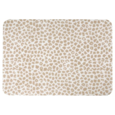 PLUGGHÄST Desk pad, patterned beige/transparent, 65x45 cm