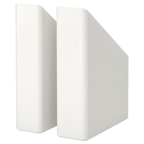 PLUGGIS magazine file set of 2 white