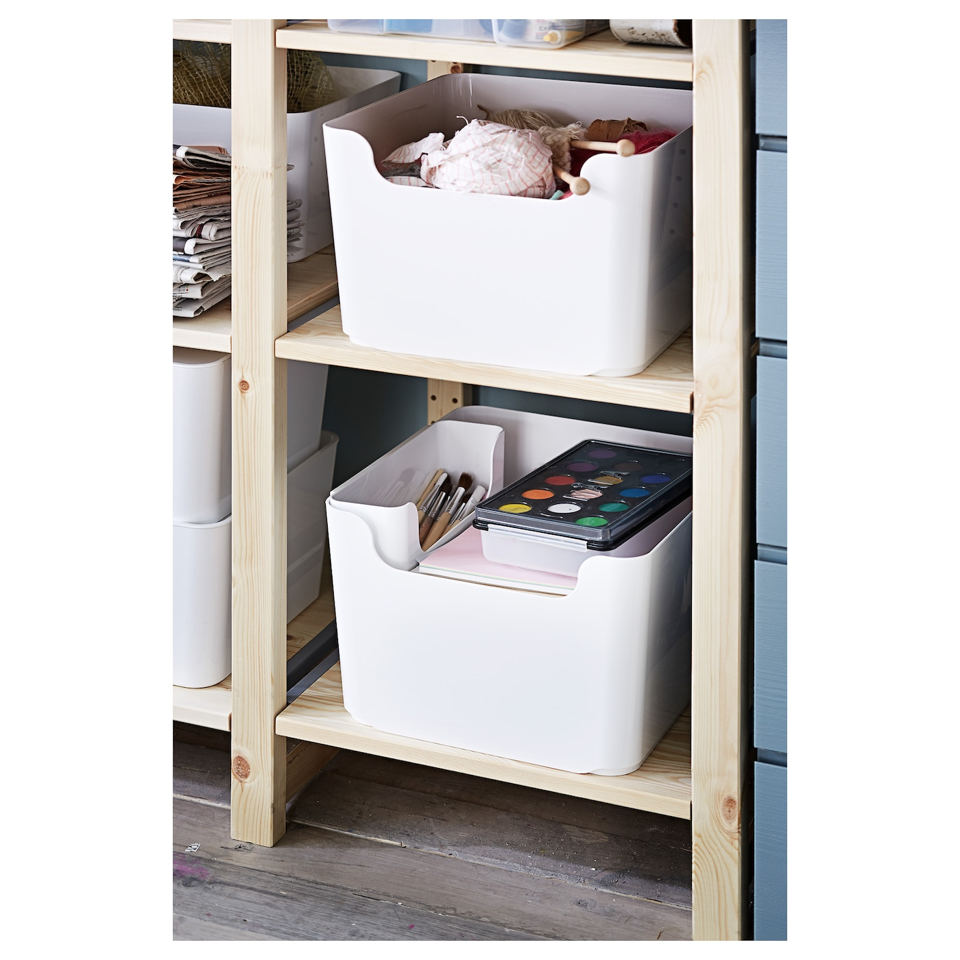 Pluggis waste sorting bin white 14 l ikea for Ikea raccolta differenziata