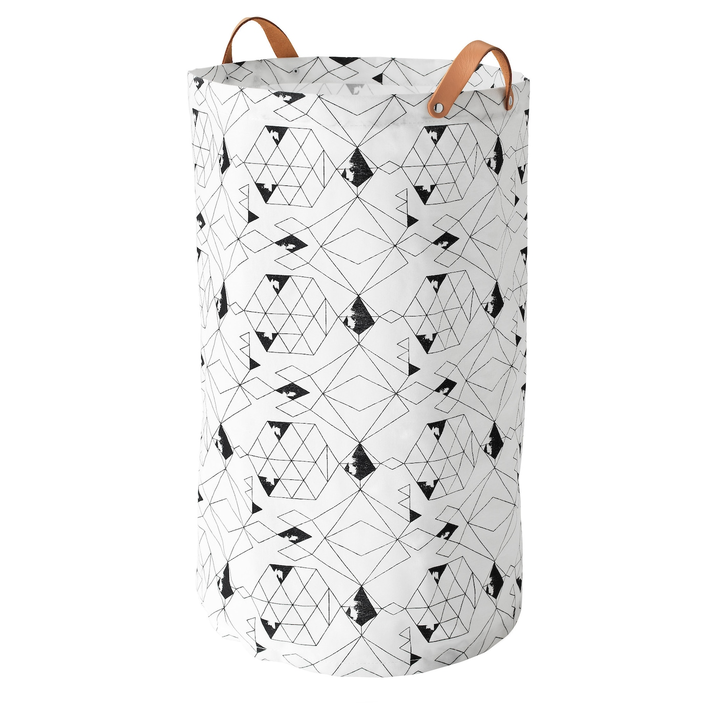 IKEA PLUMSA laundry bag The plastic coating on the inside protects against moisture.