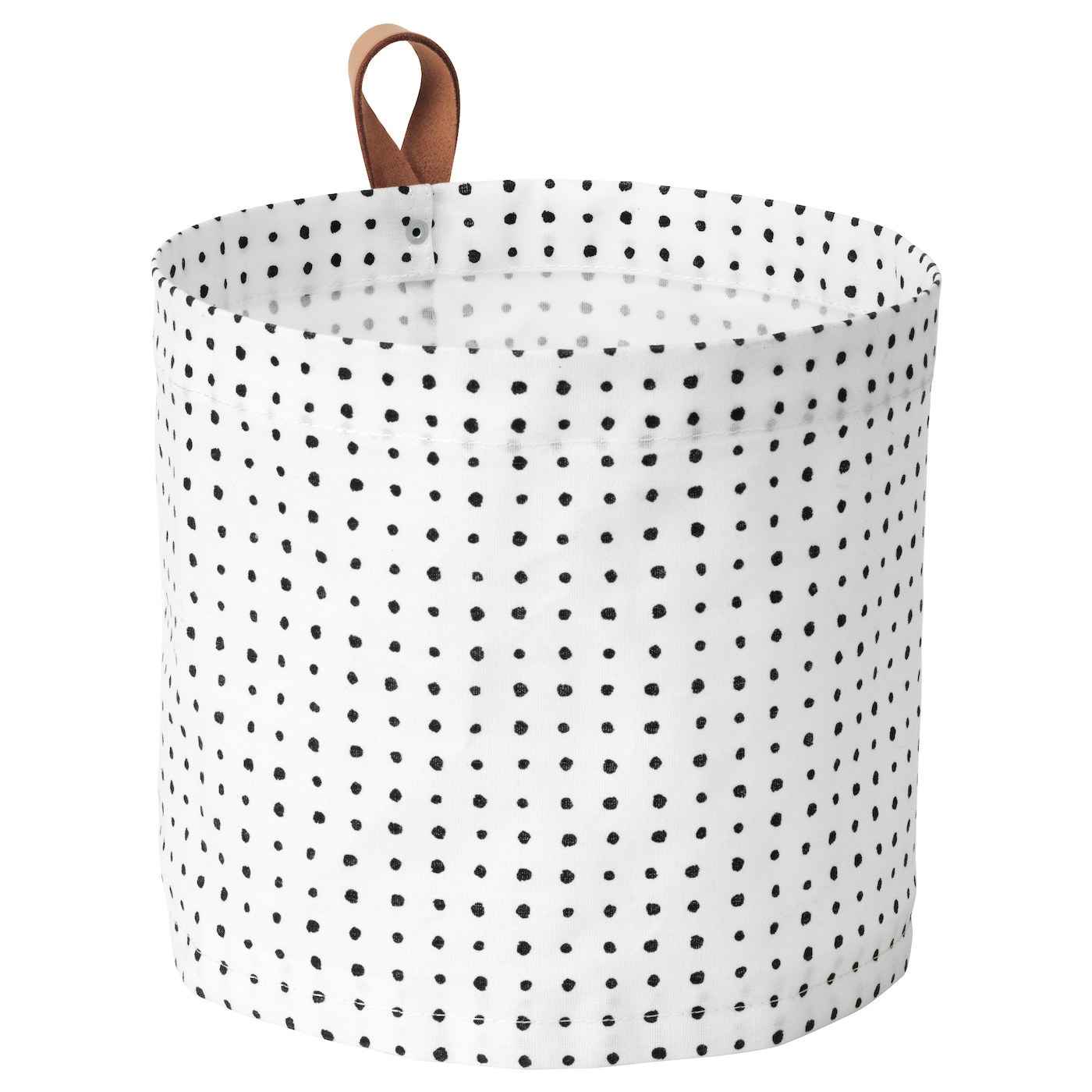 IKEA PLUMSA storage basket The plastic coating on the inside protects against moisture.