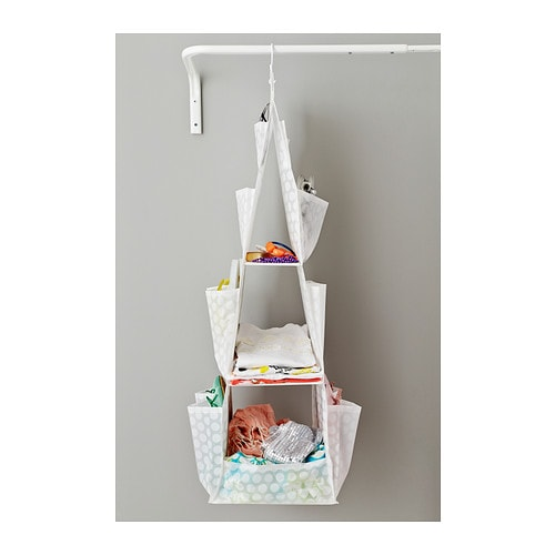 Pluring hanging storage with 3 compartments white for Ikea ordine