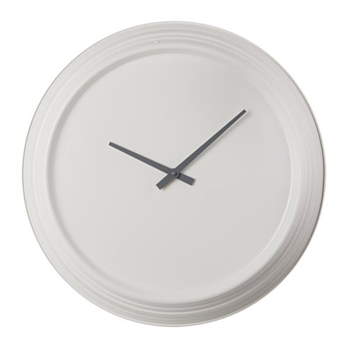 Plurra Wall Clock Metal White 59 Cm Ikea