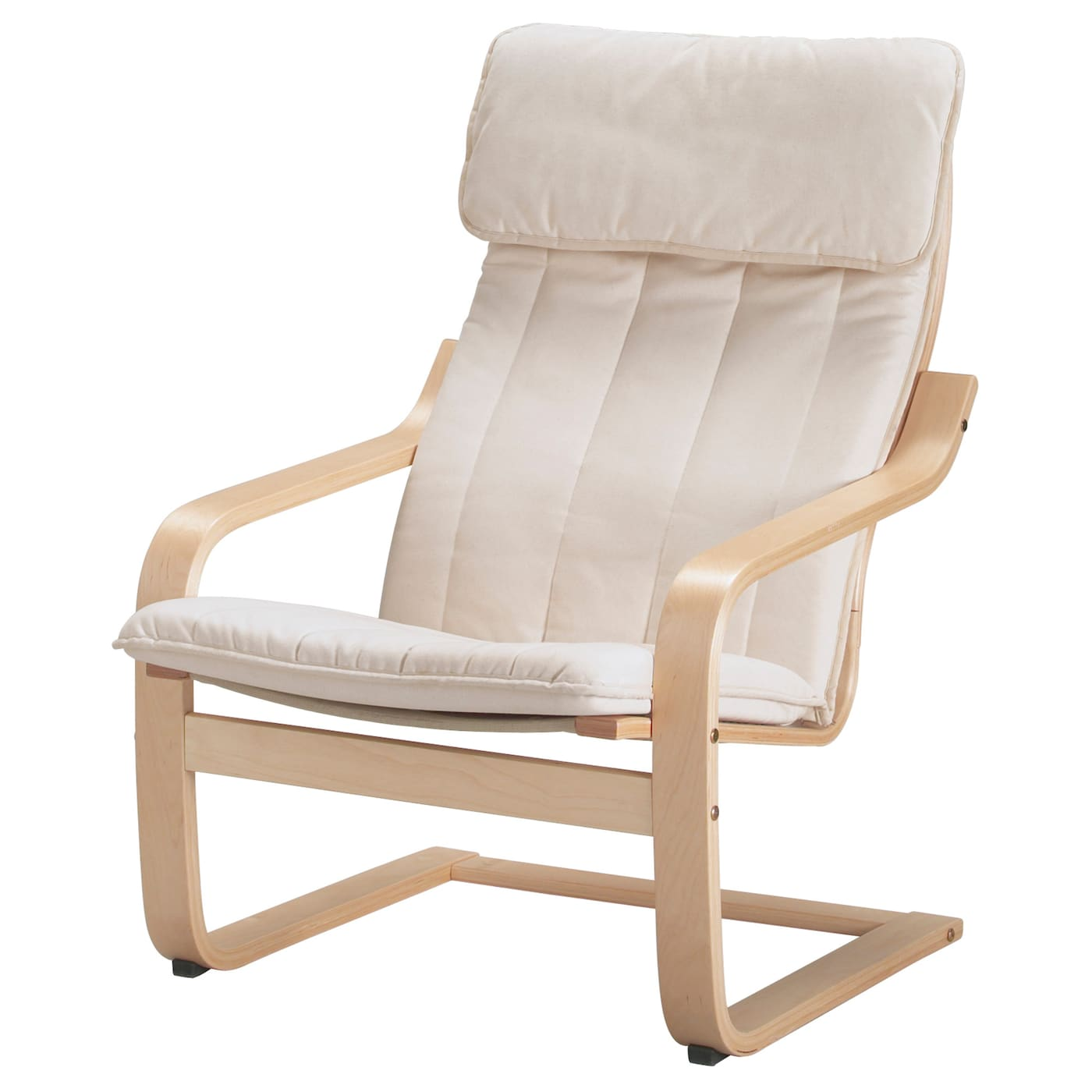 Po ng armchair birch veneer ransta natural ikea for Childrens rocking chair ikea