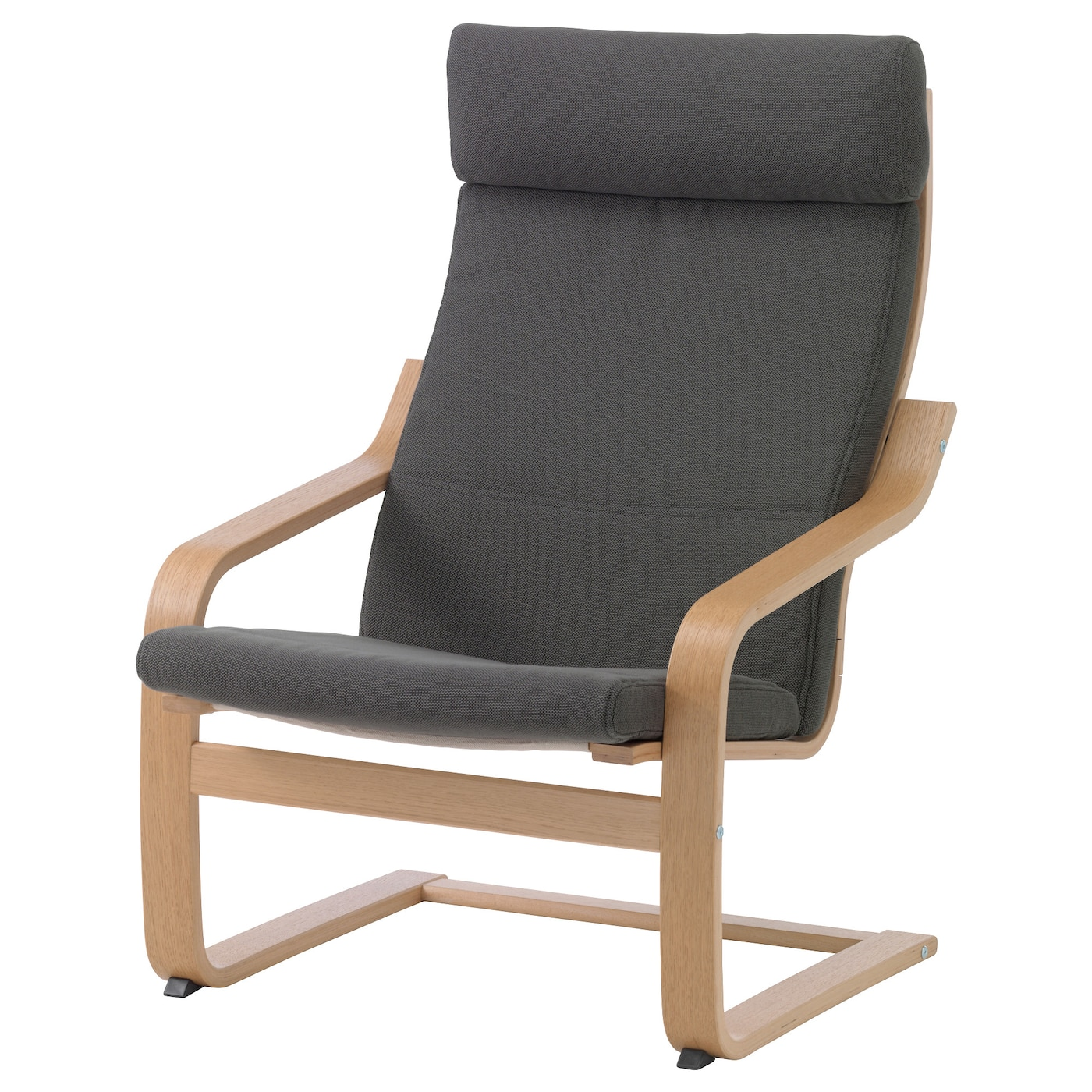 IKEA POÄNG armchair Layer-glued bent beech frame gives comfortable resilience.
