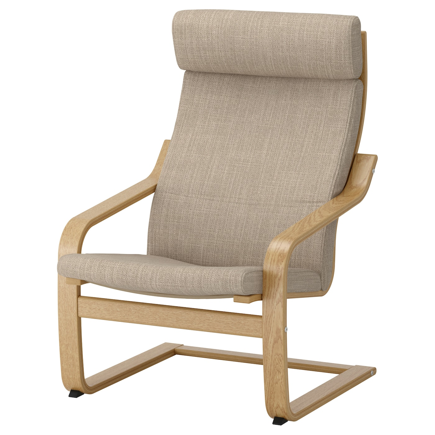 IKEA POÄNG armchair Layer-glued bent oak gives comfortable resilience.