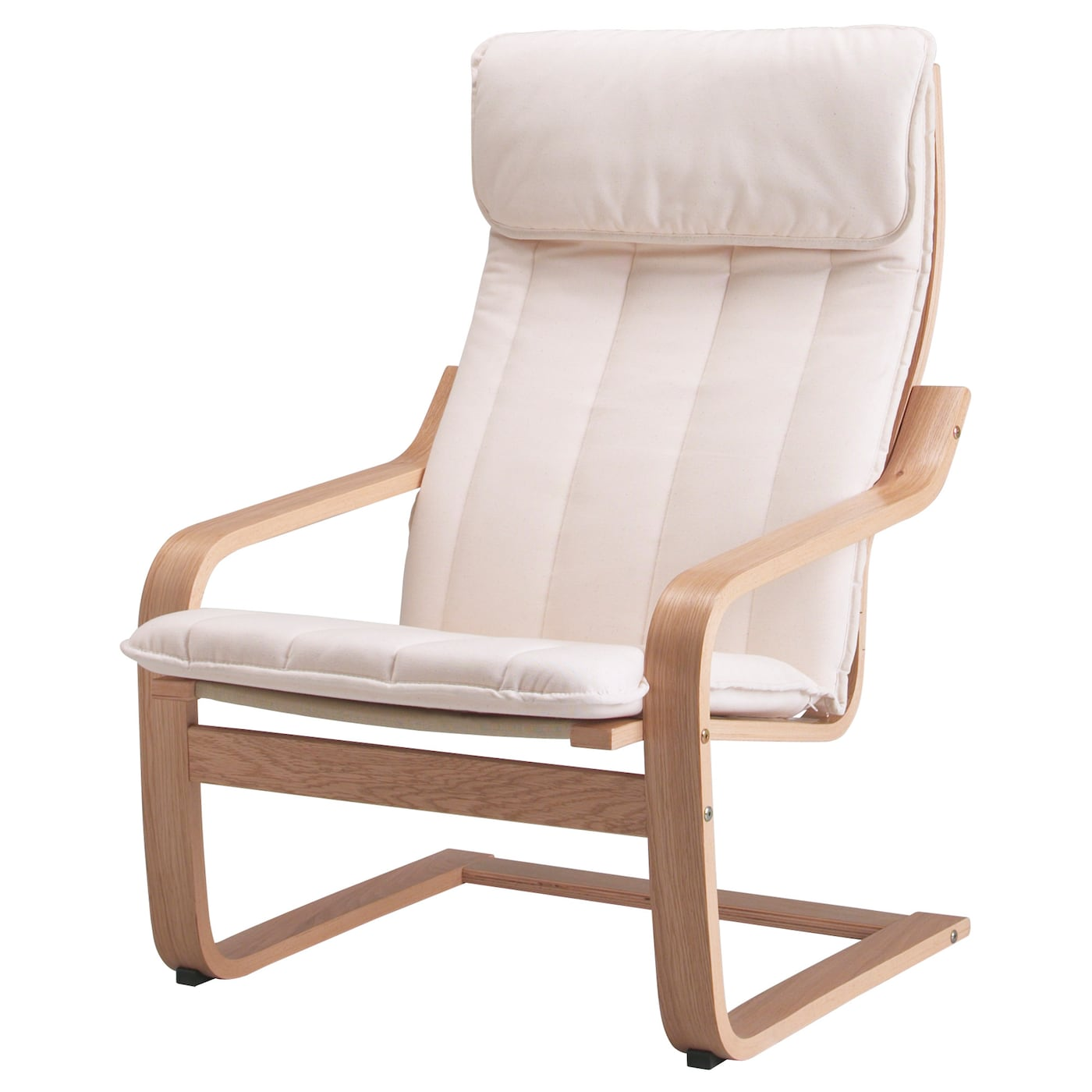 Ikea Poang Armchair Layer Glued Bent Oak Gives Comfortable Resilience
