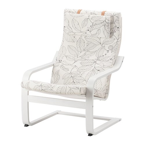 IKEA POÄNG armchair The cover is easy to keep clean as it is removable and can be dry cleaned.
