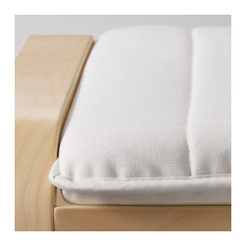 IKEA POÄNG footstool The cover is easy to keep clean as it is removable and can be machine washed.