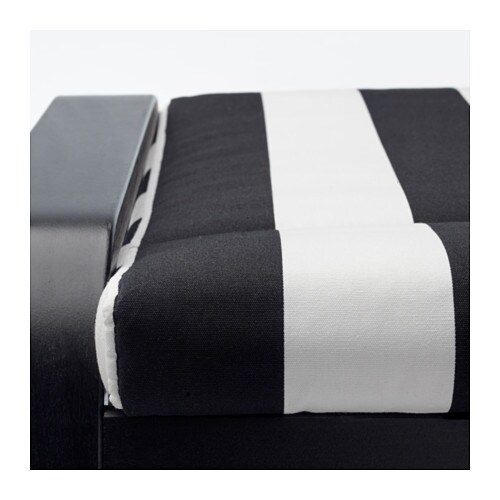 IKEA POÄNG footstool The cover is easy to keep clean as it is removable and can be dry cleaned.
