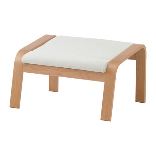 IKEA POÄNG footstool Layer-glued bent beech frame gives comfortable resilience.