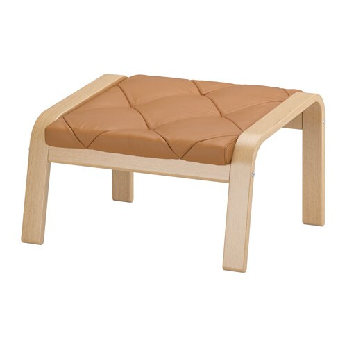 IKEA POÄNG footstool Layer-glued bent oak gives comfortable resilience.