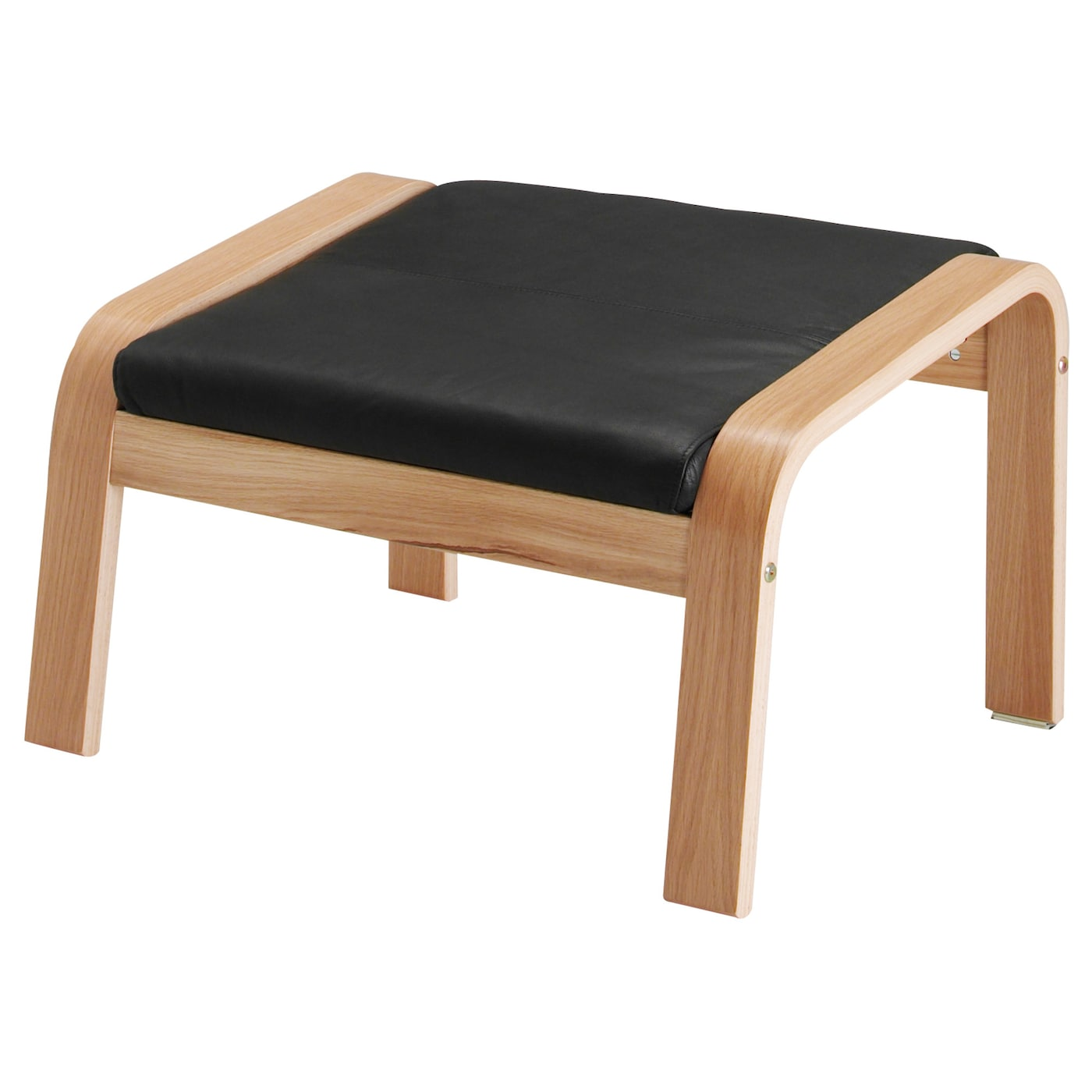 IKEA POÄNG footstool Soft hardwearing and easy care leather which ages gracefully.  sc 1 st  Ikea & POÄNG Footstool Oak veneer/smidig black - IKEA islam-shia.org