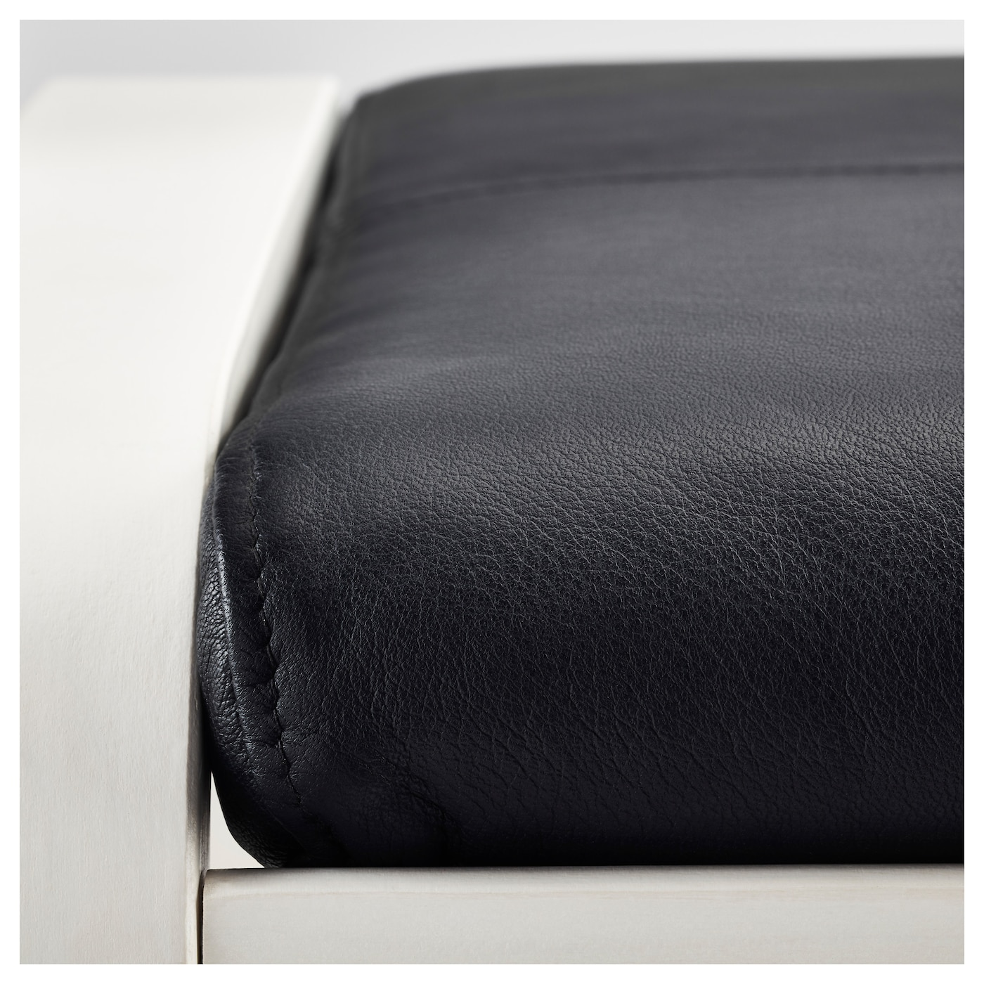 IKEA POÄNG footstool Soft, hardwearing and easy care leather, which ages gracefully.