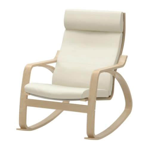Po ng rocking chair birch veneer glose eggshell ikea for Childrens rocking chair ikea