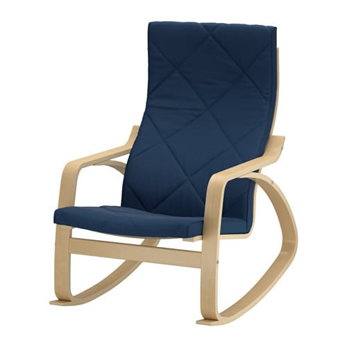 IKEA POÄNG rocking-chair Layer-glued bent birch frame gives ...