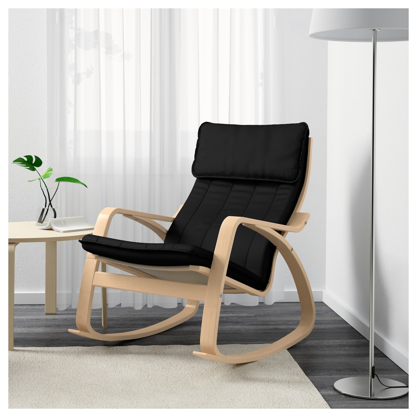 IKEA POÄNG rocking-chair The high back gives good support for your ...