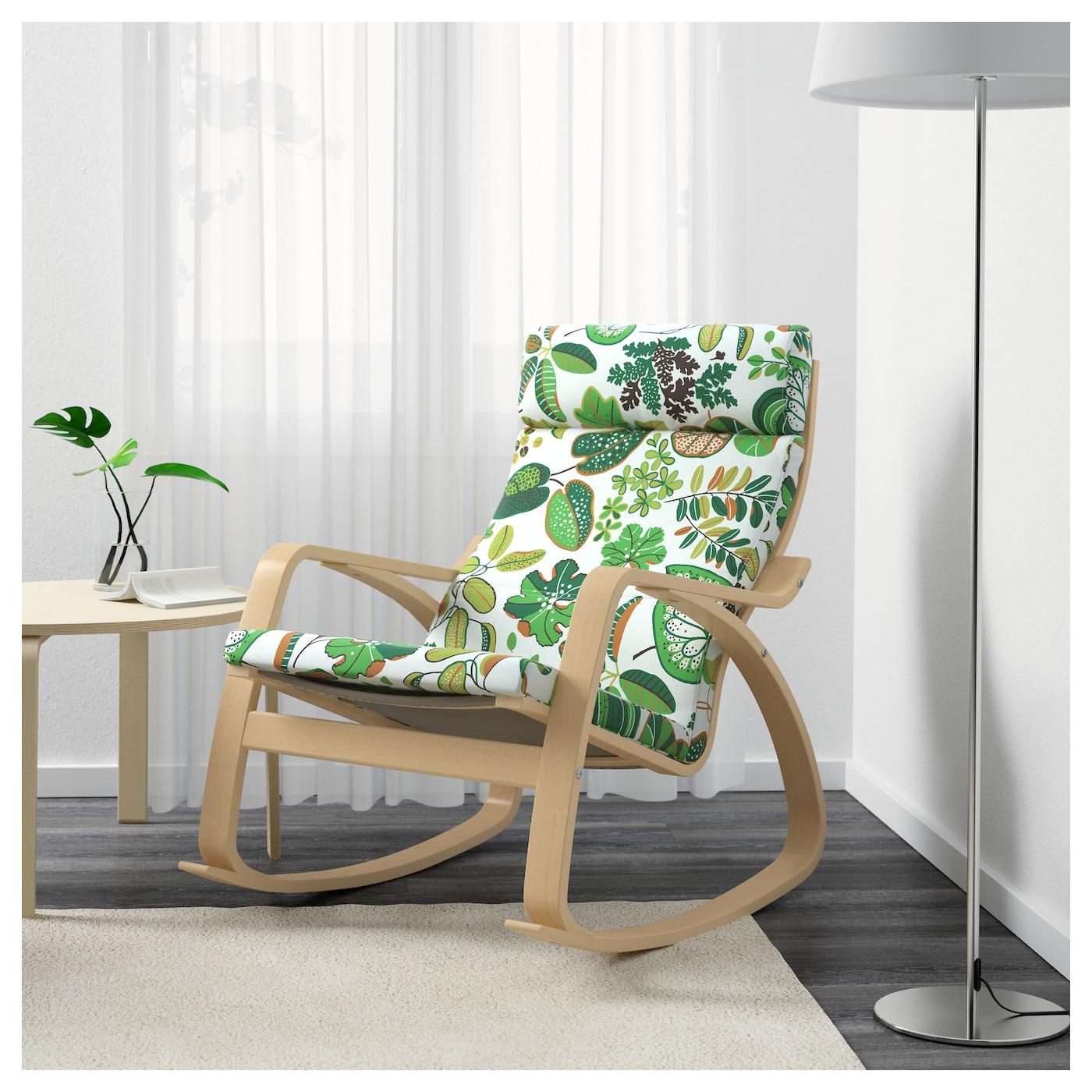 po ng rocking chair birch veneer simmarp green ikea. Black Bedroom Furniture Sets. Home Design Ideas