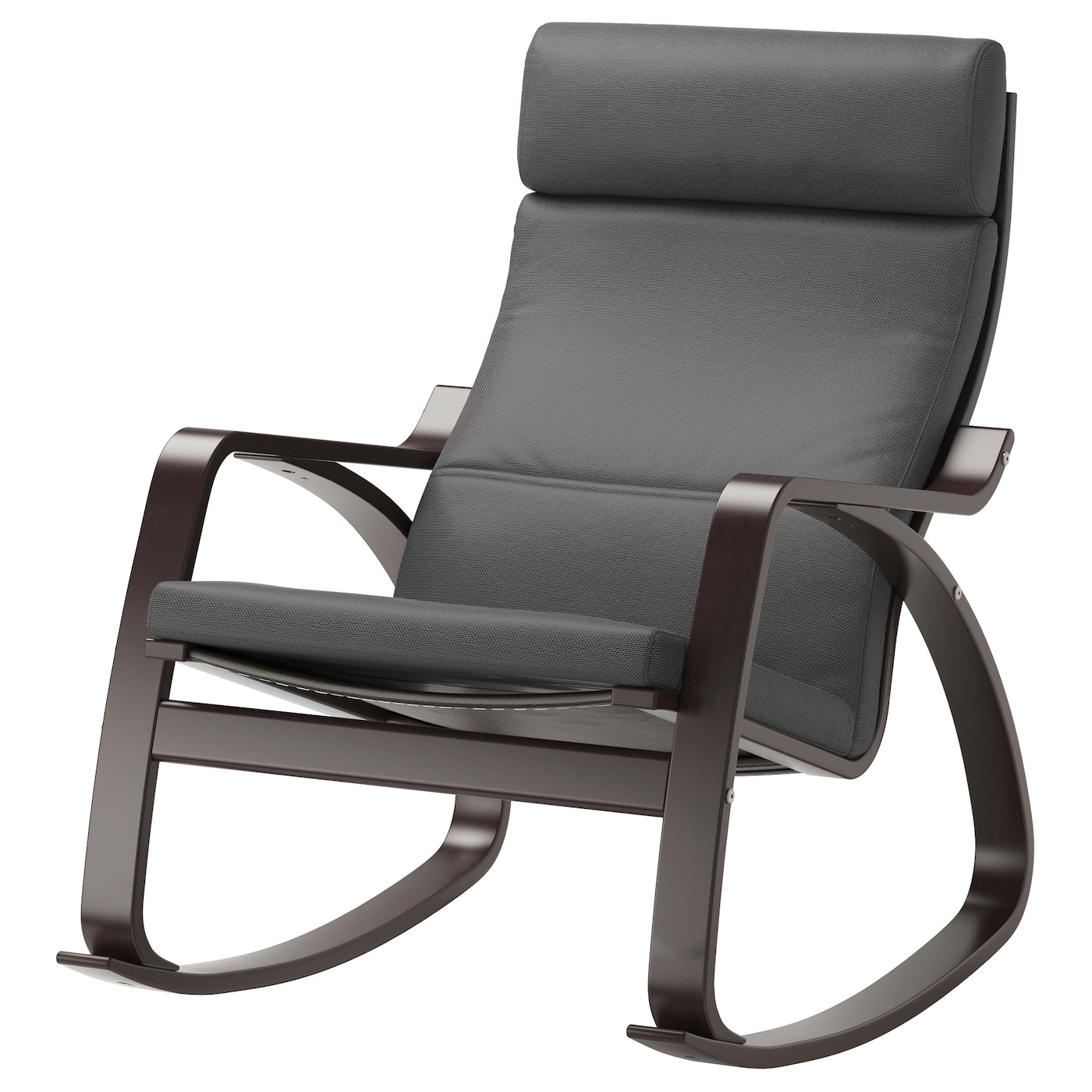 poa ng rocking chair black brown finnsta grey ikea