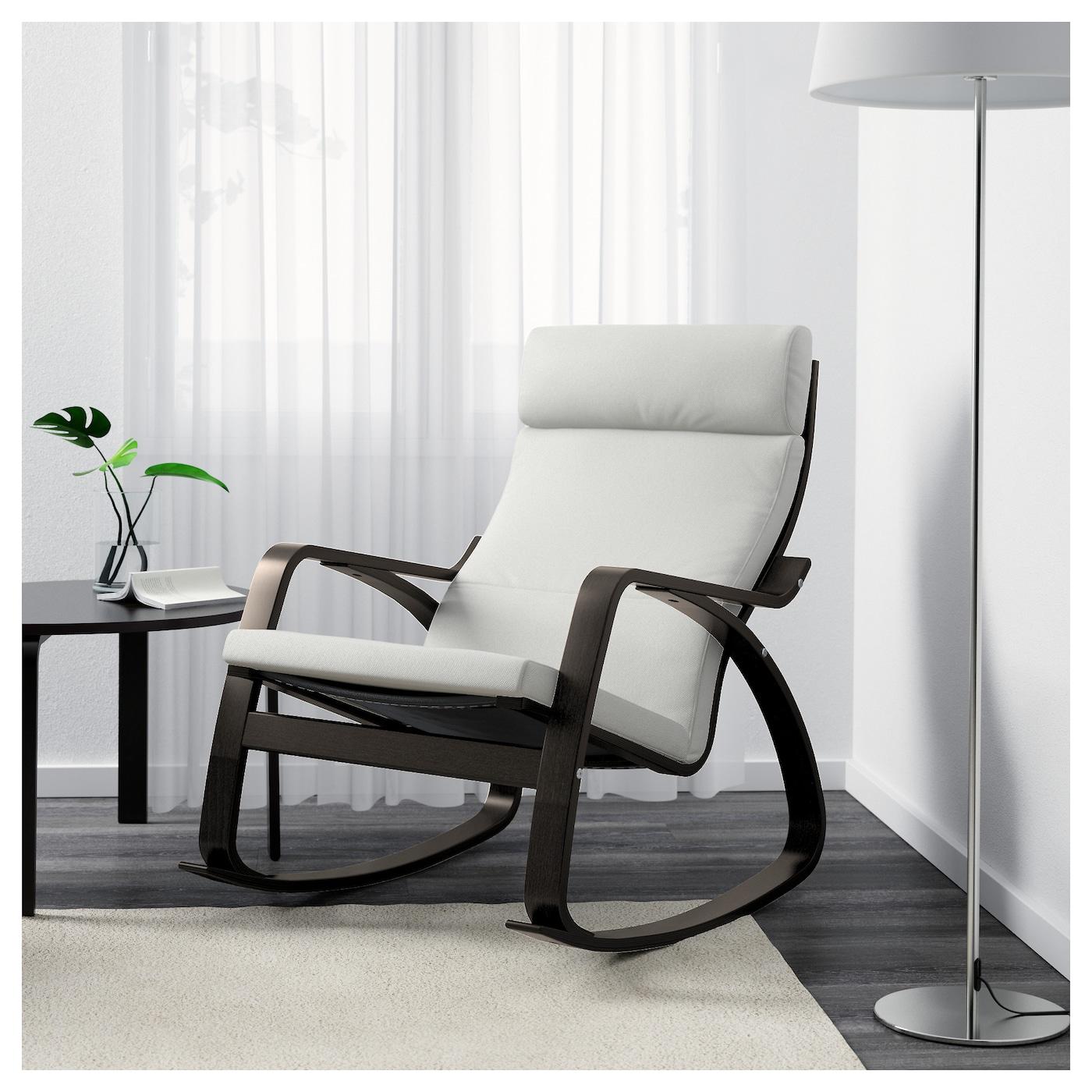 po ng rocking chair black brown finnsta white ikea. Black Bedroom Furniture Sets. Home Design Ideas