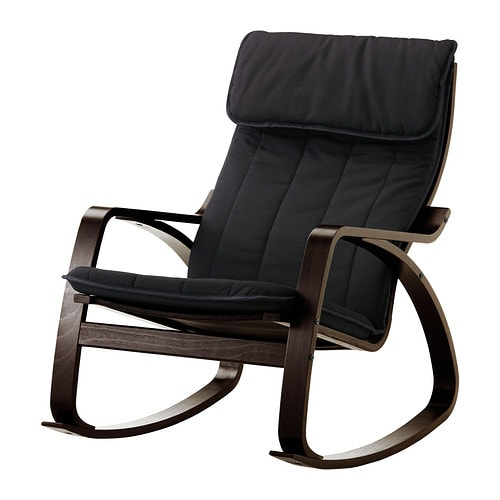 IKEA POÄNG Rocking Chair Layer Glued Bent Beech Frame Gives Comfortable  Resilience.
