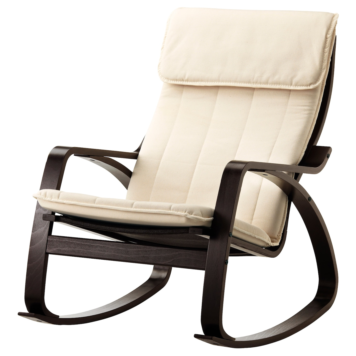 po ng rocking chair black brown ransta natural ikea. Black Bedroom Furniture Sets. Home Design Ideas