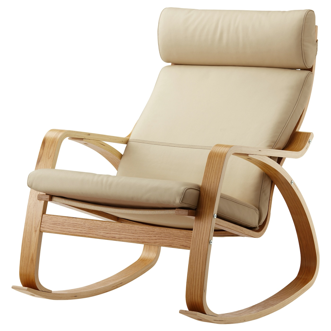 "PO""NG Rocking chair Oak veneer glose eggshell IKEA"