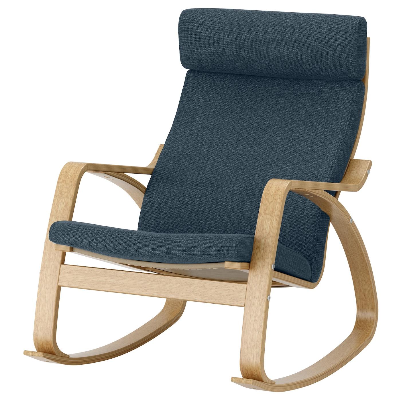 po ng rocking chair oak veneer hillared dark blue ikea. Black Bedroom Furniture Sets. Home Design Ideas