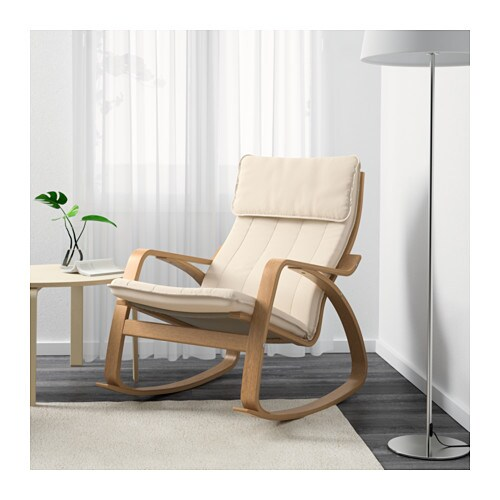 po ng rocking chair oak veneer ransta natural ikea. Black Bedroom Furniture Sets. Home Design Ideas