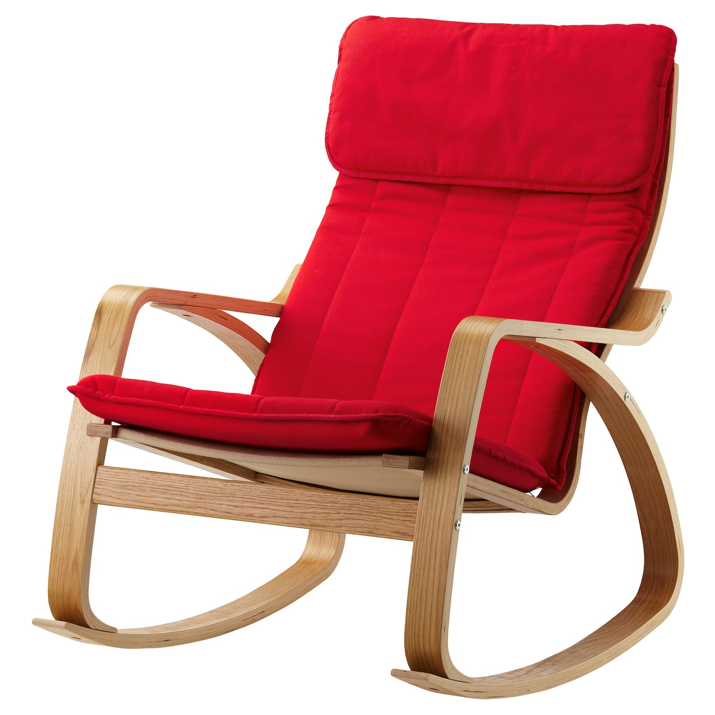 po ng rocking chair oak veneer ransta red ikea. Black Bedroom Furniture Sets. Home Design Ideas