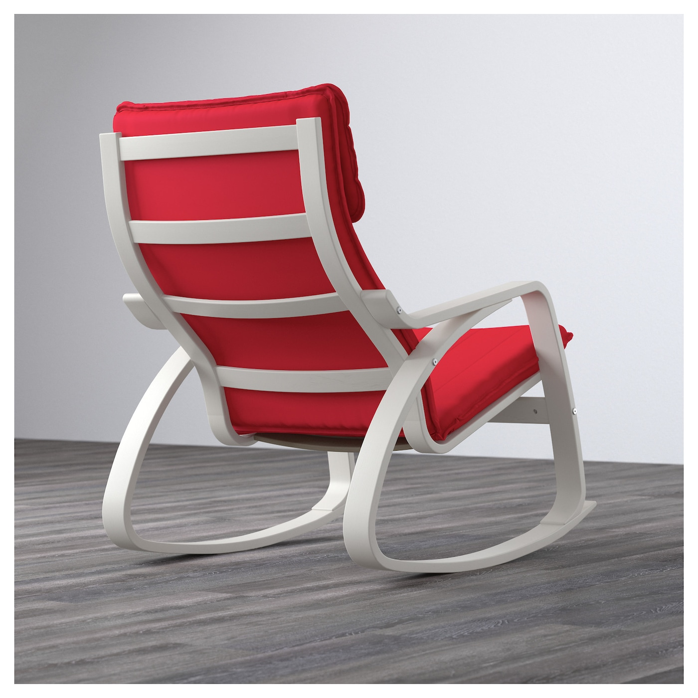IKEA POÄNG rocking-chair Layer-glued bent birch frame gives comfortable resilience.
