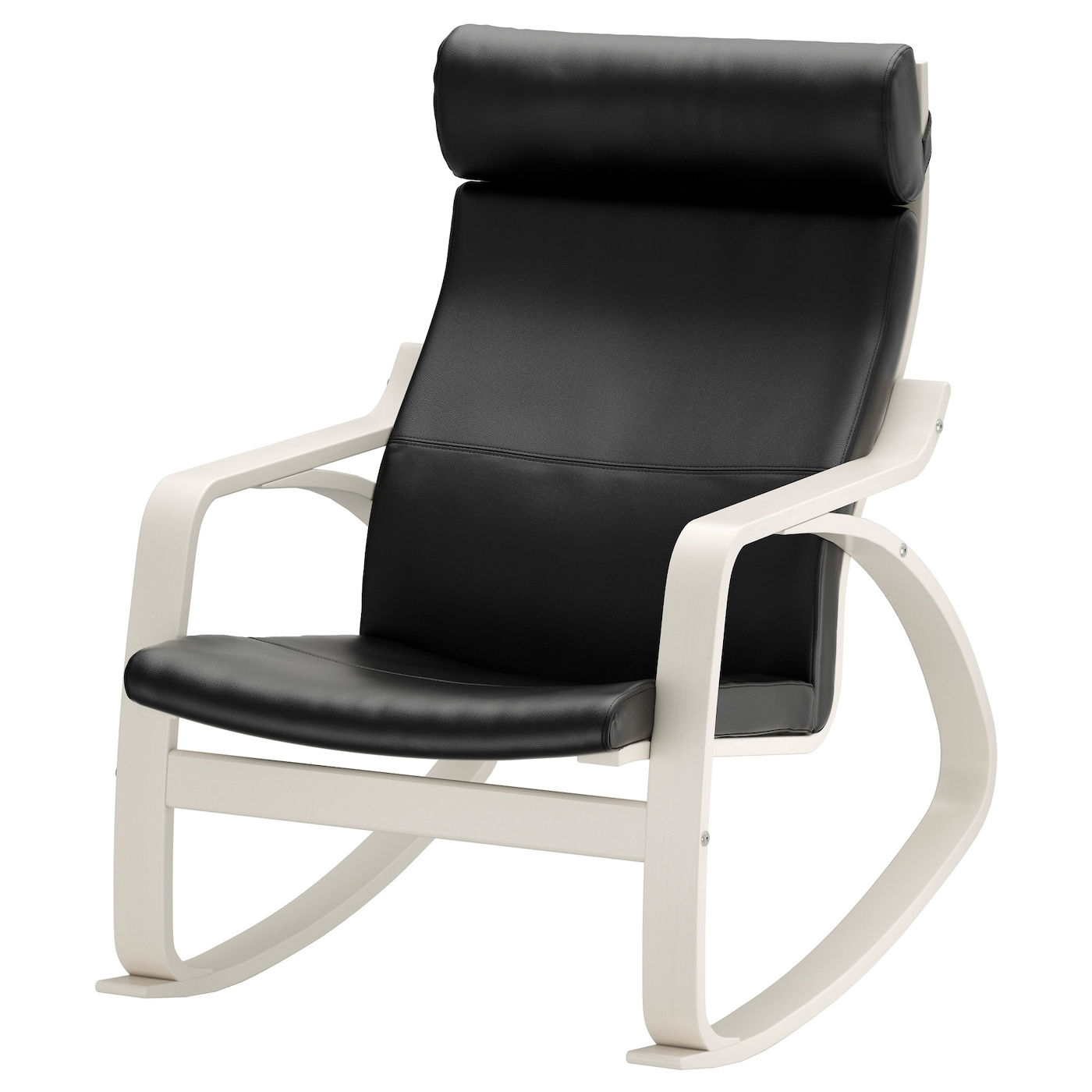 IKEA POÄNG rocking-chair Soft, hardwearing and easy care leather, which ages gracefully.