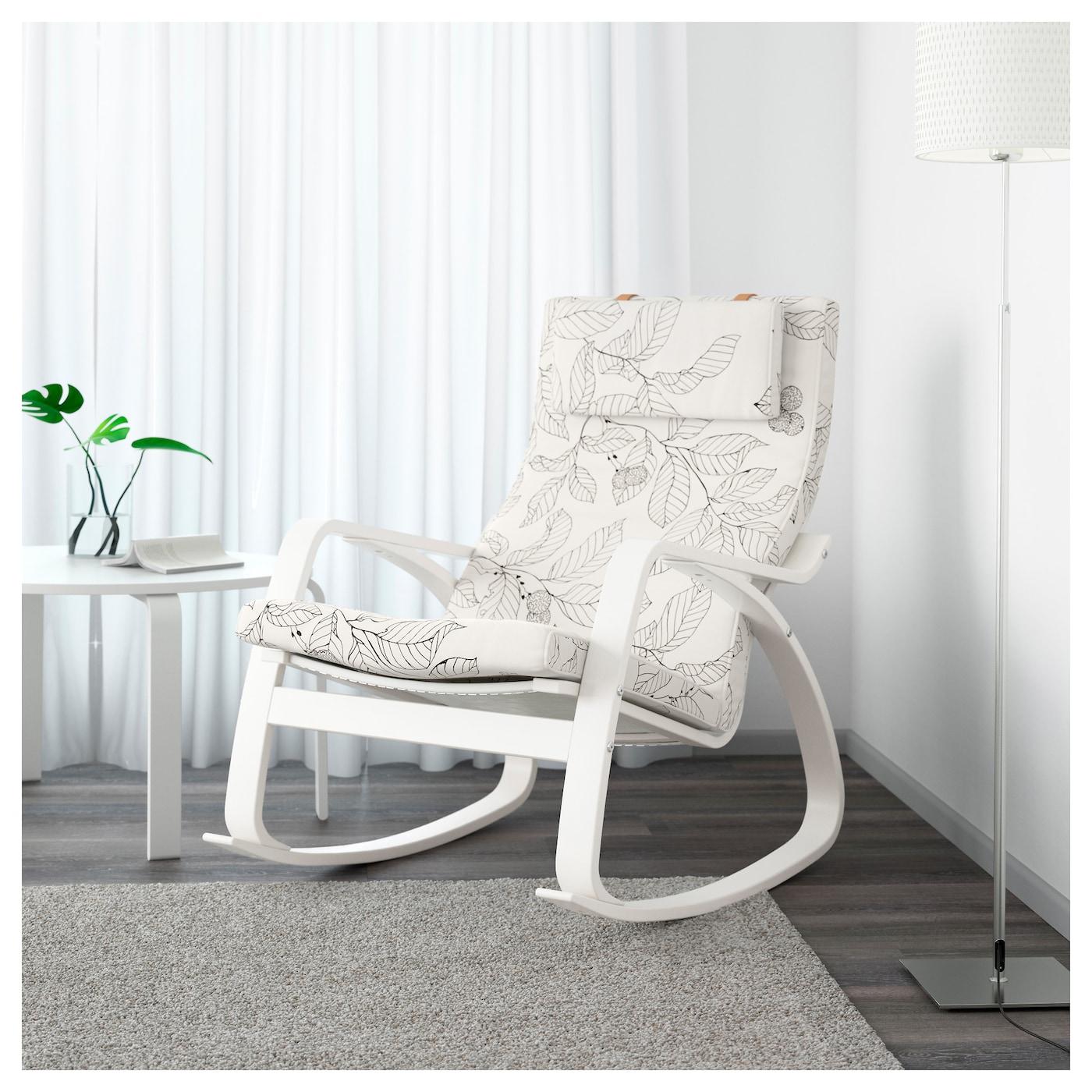 """poa""""ng rocking chair white vislanda black white ikea"""
