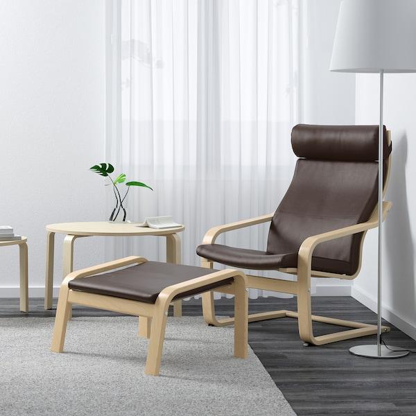 POÄNG Armchair, birch veneer/Glose dark brown