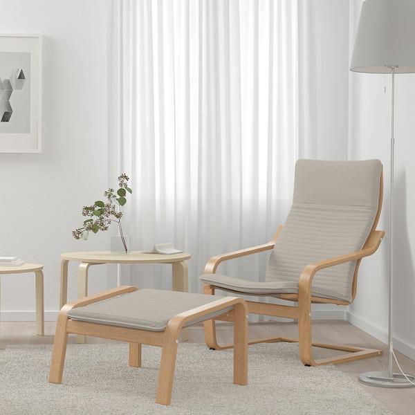 POÄNG Armchair, oak veneer/Knisa light beige