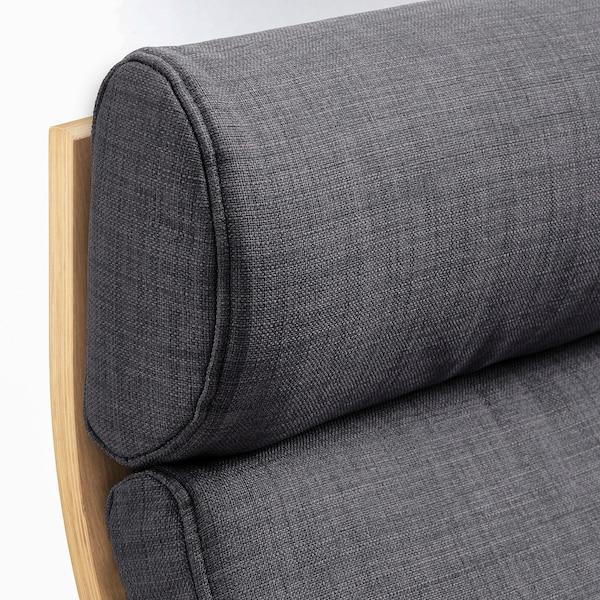 POÄNG Armchair, oak veneer/Skiftebo dark grey