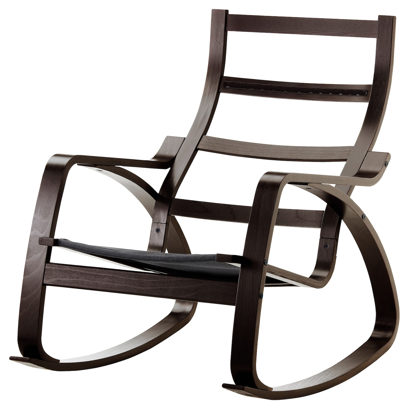 Picture of: Poang Rocking Chair Frame Black Brown Ikea