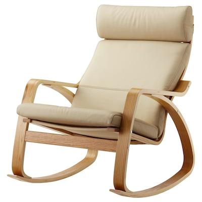 POÄNG Rocking-chair, oak veneer/Glose eggshell