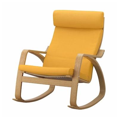 POÄNG Rocking-chair, oak veneer/Skiftebo yellow