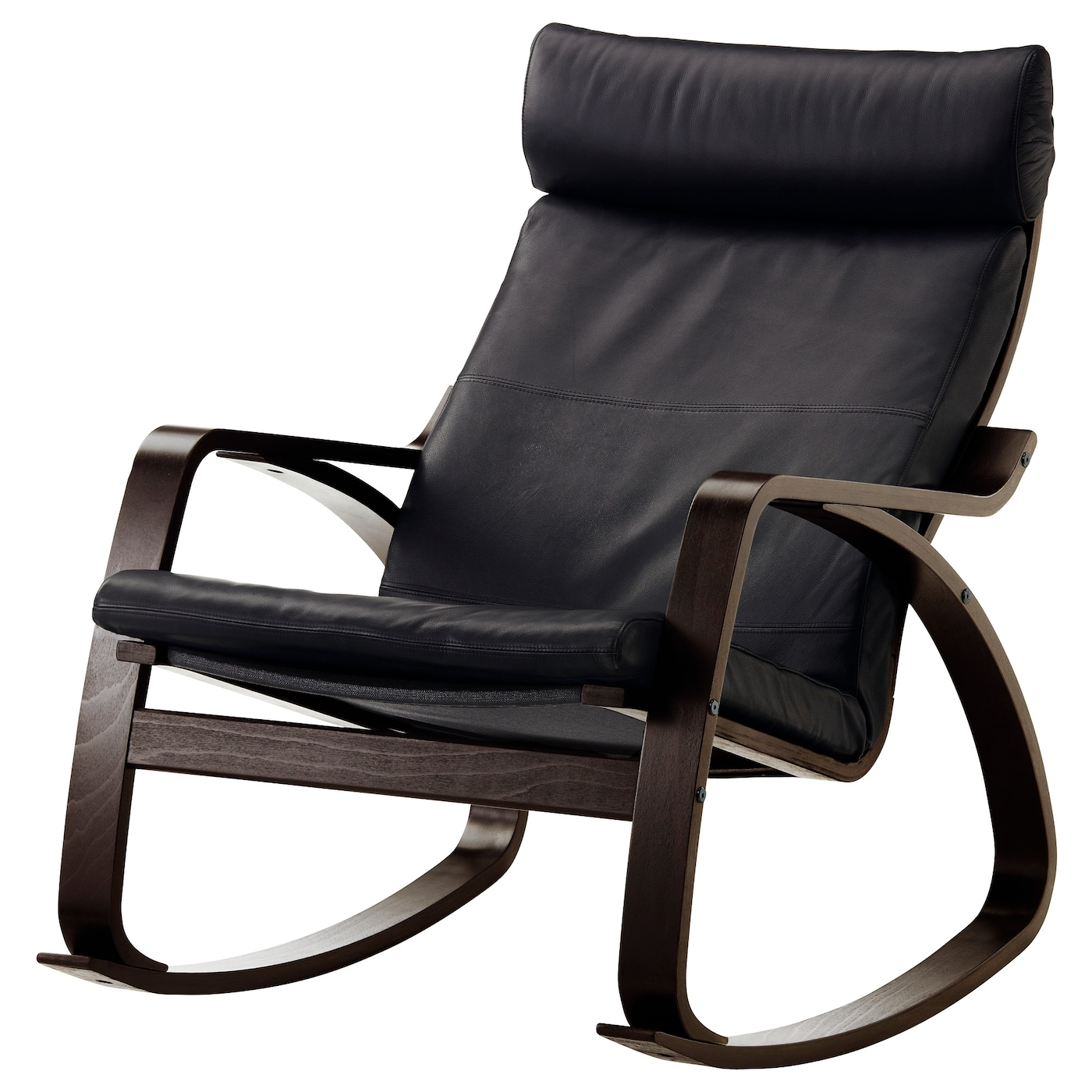 ikea poang chair black leather