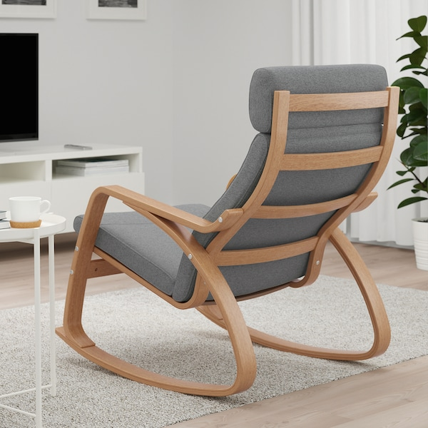 POÄNG Lysed grey, Rocking chair. Get it here! IKEA